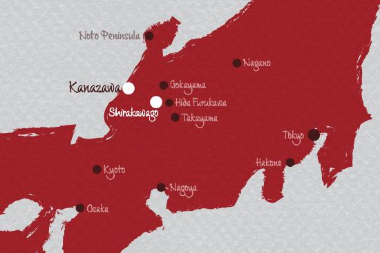 Shirakawago map