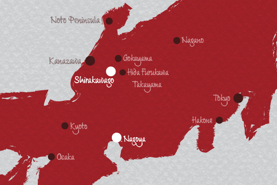 nagoya to shirakawago map