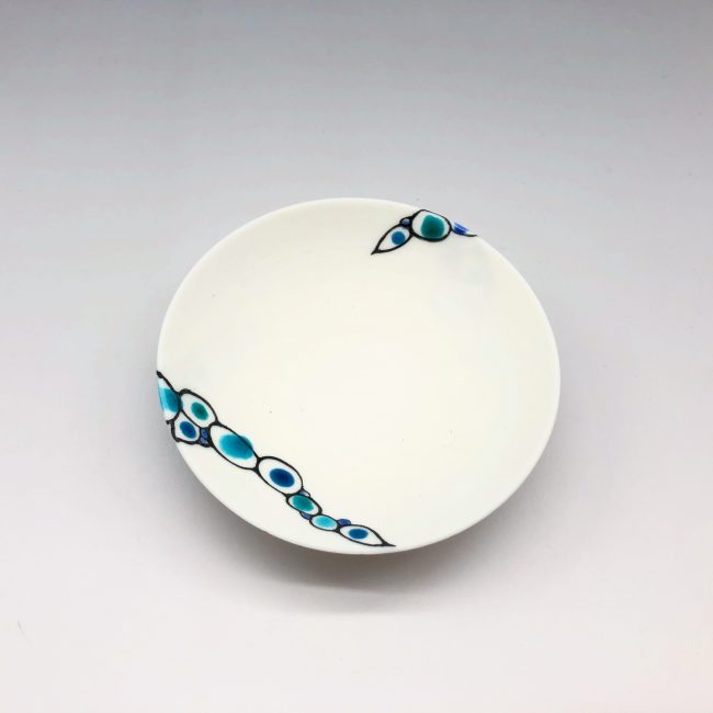 Imanishi Cell Pattern Ceramic Flat Cup 2